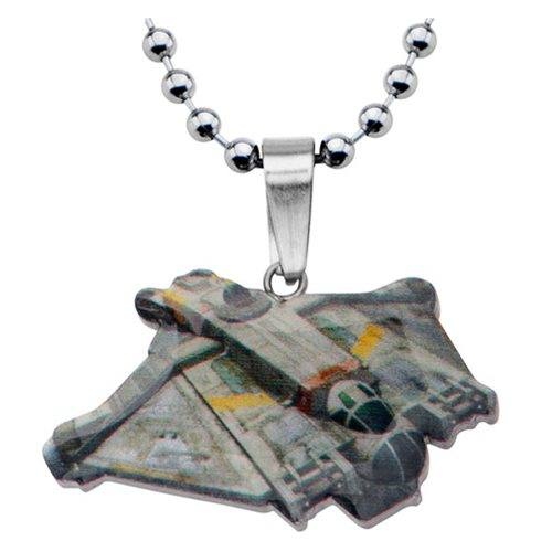Star Wars Rebels Ghost Ship Cut Out Pendant Stainless Steel Necklace