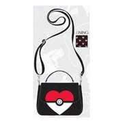 Pokemon Poke Ball Heart Crossbody Purse