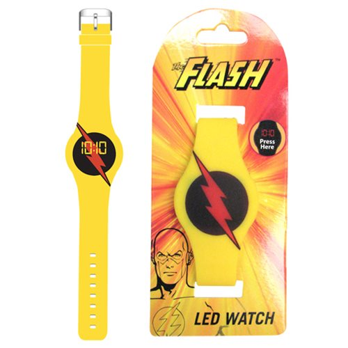 Flash TV Reverse Flash Emblem Yellow LED Watch