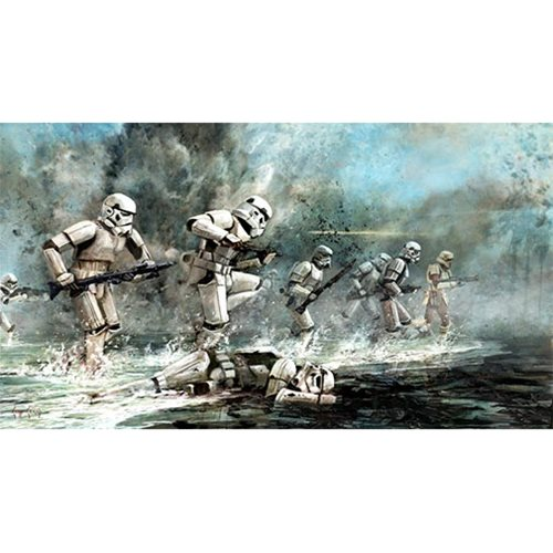 Star Wars Storming Troopers by Cliff Cramp Lithograph Art Print
