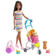 Barbie Stroll 'n Play Pups Brunette Doll and Accessories