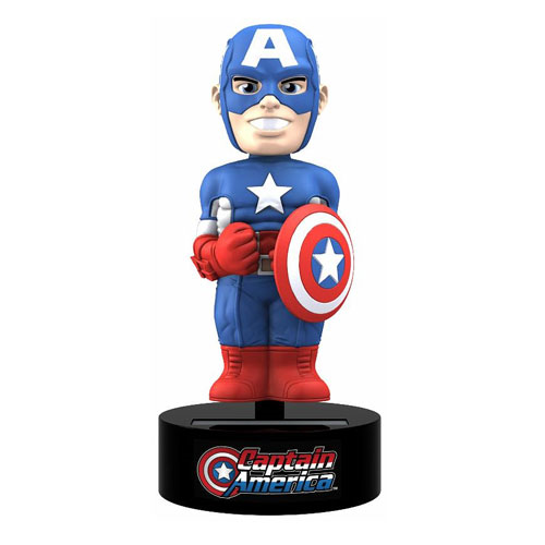 Captain America Marvel Solar-Powered Bobble Head, Not Mint