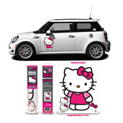 Hello Kitty Pink Waving Car Decal