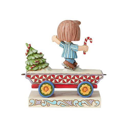 Peanuts Peppermint Patty Train Skating Shenanigans by Jim Shore Statue