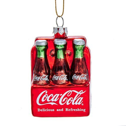 Coca-Cola Bottle 6-Pack Glass Ornament