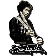 Jimi Hendrix Black and White Funky Chunky Magnet