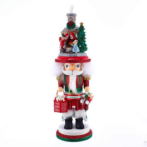 Hollywood Stockings on Fireplace 17 1/2-Inch Nutcracker
