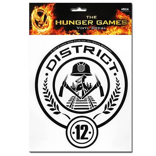 Hunger Games Movie District 12 Stickers Entertainment Earth