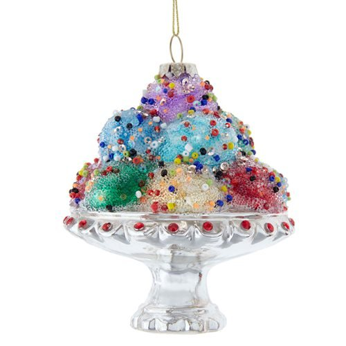 Ice Cream Sundae 5-Inch Glass Ornament