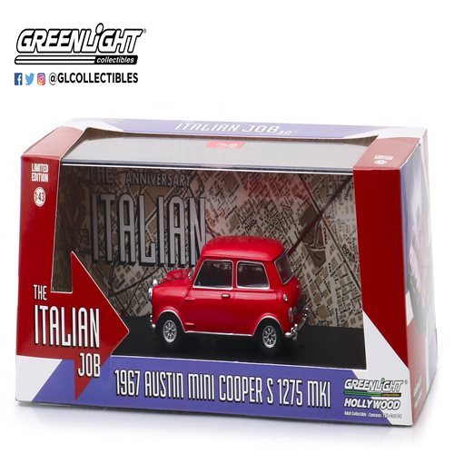 The Italian Job (1969) - 1967 Austin Mini Cooper S 1275 MKI Red 1:43 Scale Die-Cast Metal Vehicle