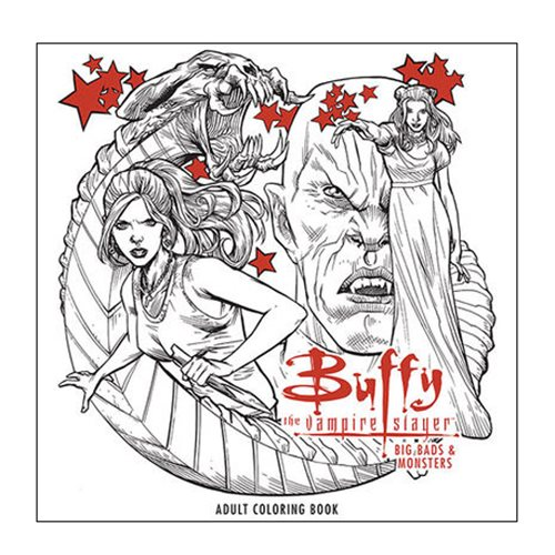 Buffy the Vampire Slayer: Big Bads and Monsters Adult Coloring Book