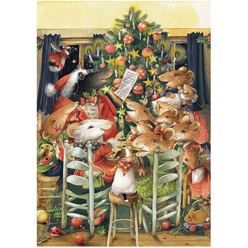 marjolein bastin christmas at vera's mightyprint wall art print