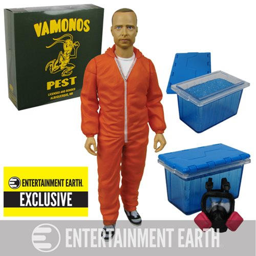 Breaking Bad Jesse Pinkman Orange Hazmat Suit Action Figure - Entertainment Earth Exclusive