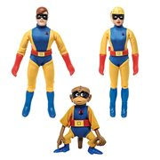 Hanna Barbera Space Ghost 8-Inch Jace, Jan, and Blip Action Figures
