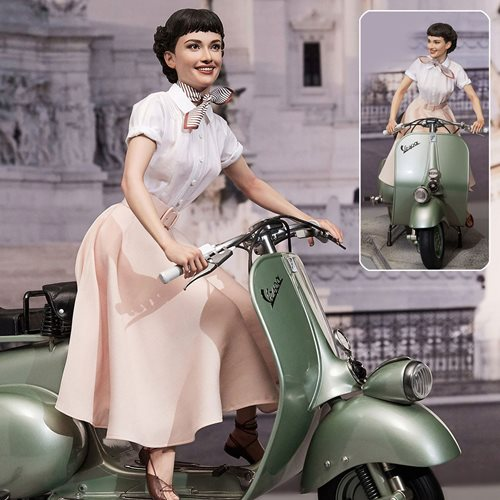 Roman Holiday Princess Ann and 1951 Vespa 125 Superb 1:4 Scale Statue