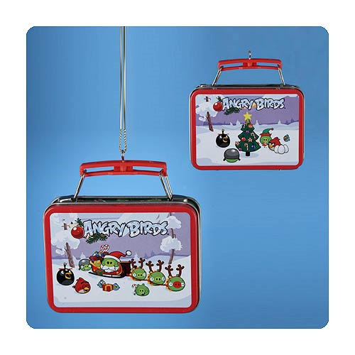 Angry Birds Miniature Tin Lunch Box Christmas Ornament