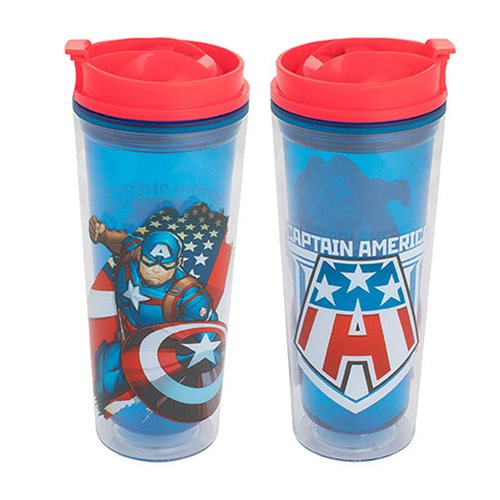 Captain America 16 oz. Acrylic Travel Tumbler
