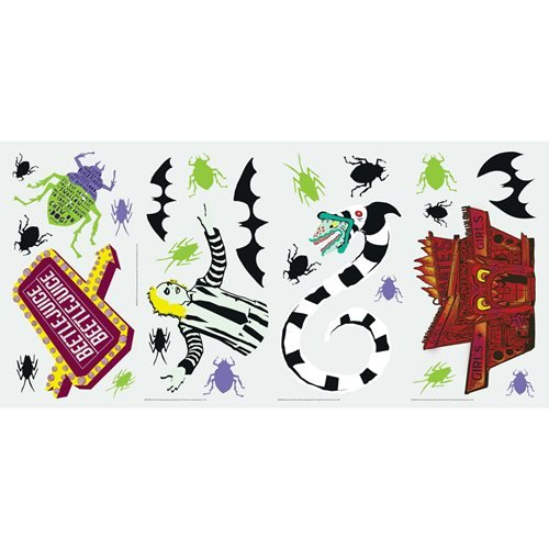 Beetlejuice Peel and Stick Wall Decals
