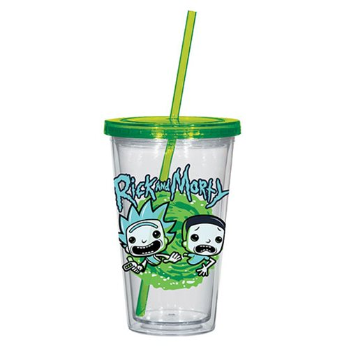 Rick and Morty 16 Oz. Acrylic Travel Cup
