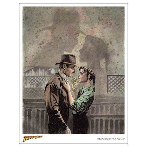 Indiana Jones Raiders of the Lost Ark It Looks Like I'm Your Partner Lithograph Print