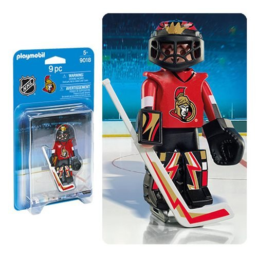 Playmobil 9018 NHL Ottawa Senators Goalie Action Figure