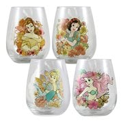 Disney Princess 18 oz. Contour Glass 4-Pack