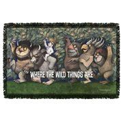 Where the Wild Things Are Wild Rumpus Dance Woven Tapestry Throw Blanket