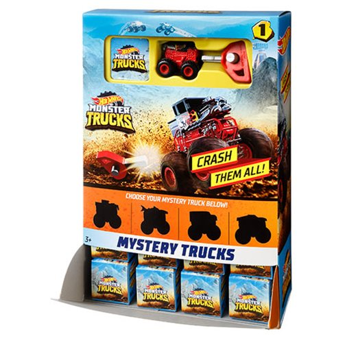 Hot Wheels Monster Trucks Mystery Trucks Mix 2 Random 4-Pack