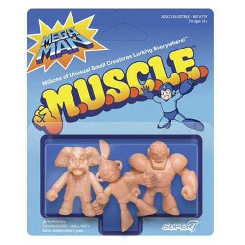 Mega Man M.U.S.C.L.E. Doctor Wily, Cut Man, Guts Man Mini-Figures