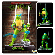Teenage Mutant Ninja Turtles Leonardo on Defeated Mouser Statue, Not Mint