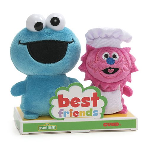 Sesame Street Cookie Monster and Gonger BFF Plush Set