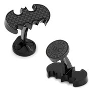 Batman Logo Carbon Fiber Stainless Steel Cufflinks