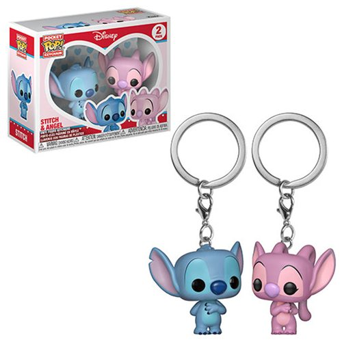 Lilo & Stitch Angel and Stitch Pocket Pop! Key Chain 2-Pack