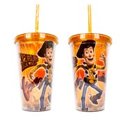 Toy Story Woody Orange 16 oz. Plastic Travel Cup