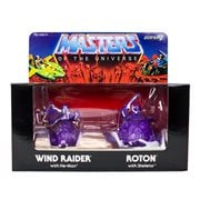 Masters of the Universe M.U.S.C.L.E. Wind Raider and Roton - Purple