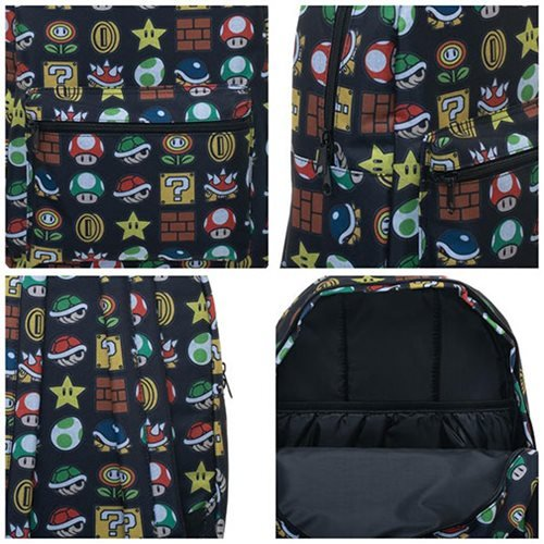 Super Mario Bros. Icon Print Backpack