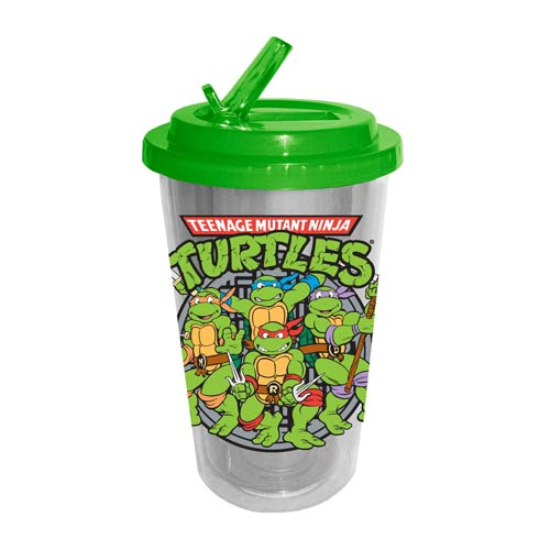Teenage Mutant Ninja Turtles Sewer Plastic 16 oz. Flip-Straw Travel Cup