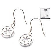 Star Wars Galactic Empire Symbol Cut Out Dangle Sterling Silver Earrings