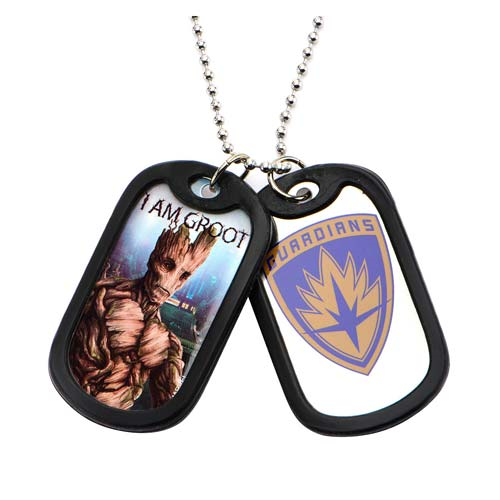 Guardians of the Galaxy Groot Dog Tags with Chain Necklace
