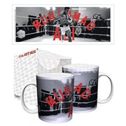 Muhammad Ali in Ring Red Text 11 oz. Mug