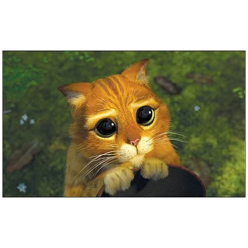 Shrek 2 Kitty Eyes Puss In Boots Canvas Giclee Print