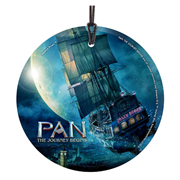 Pan: The Journey Begins The Jolly Roger StarFire Prints Hanging Glass Ornament