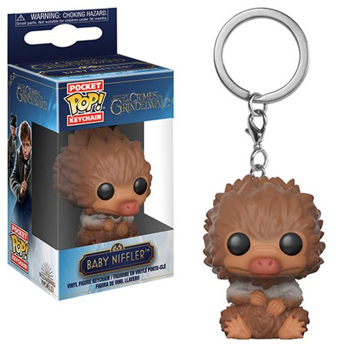Fantastic Beasts 2 Baby Niffler Tan Pocket Pop! Key Chain