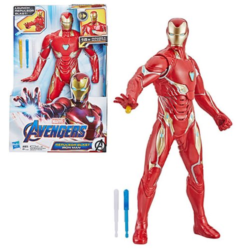 Avengers: Endgame Repulsor Blast Iron Man 13-Inch Electronic Action Figure