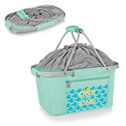 The Little Mermaid Teal Metro Basket Collapsible Cooler Tote Bag