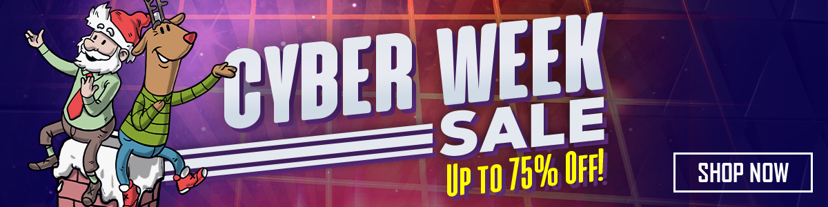 Cyber Week Sale 2019 Up to 75% Off!