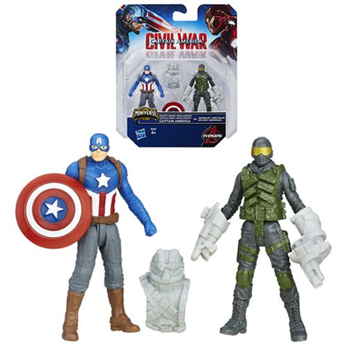 Captain America Civil War Concept Series Captain America vs. Mercenary 2 1/2-Inch Action Figures