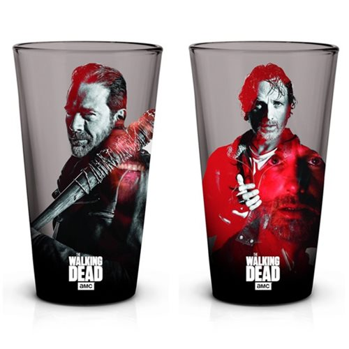 The Walking Dead Rick and Negan Pint Glass 2-Pack
