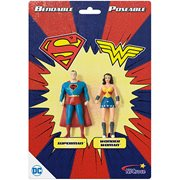Superman and Wonder Woman 3-Inch Bendable Action Figures