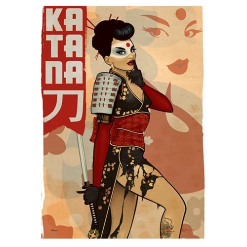 DC Comics Justice League Bombshells Katana MightyPrint Wall Art Print